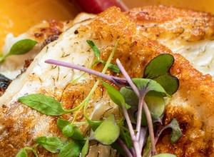 Gemüse mit weißem Fisch aus dem Ofen (für Diabetiker geeignet)